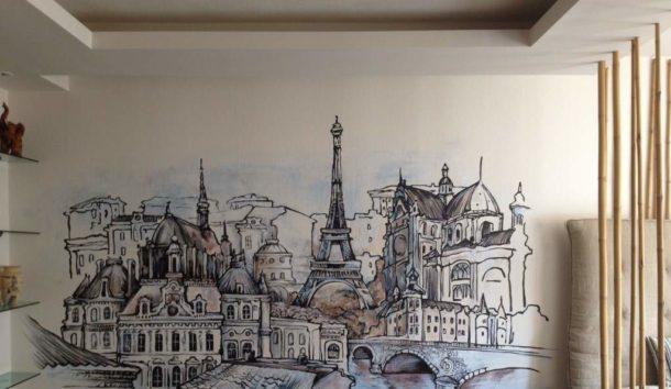 Выполняем художественную роспись на стене