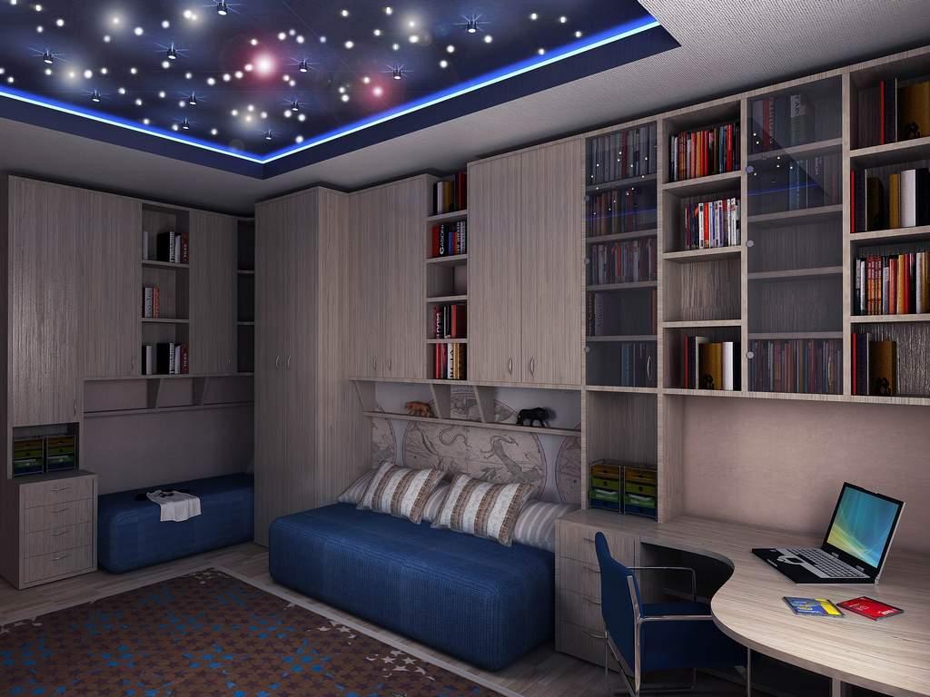 Звездное небо на потолке в детской