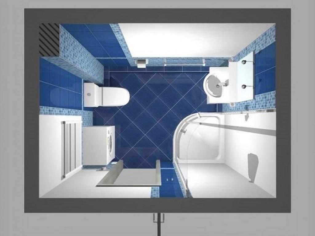 Дизайн маленькой ванной с угловой кабиной
