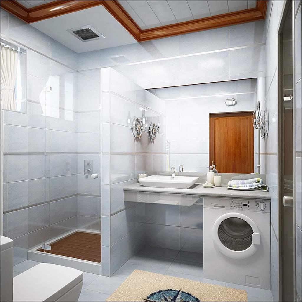 Использование стекла и зеркал в дизайне небольшой ванной