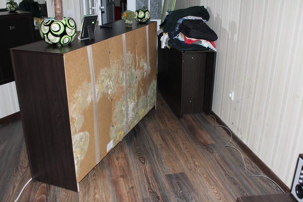 Мебель, испорченная сыростью