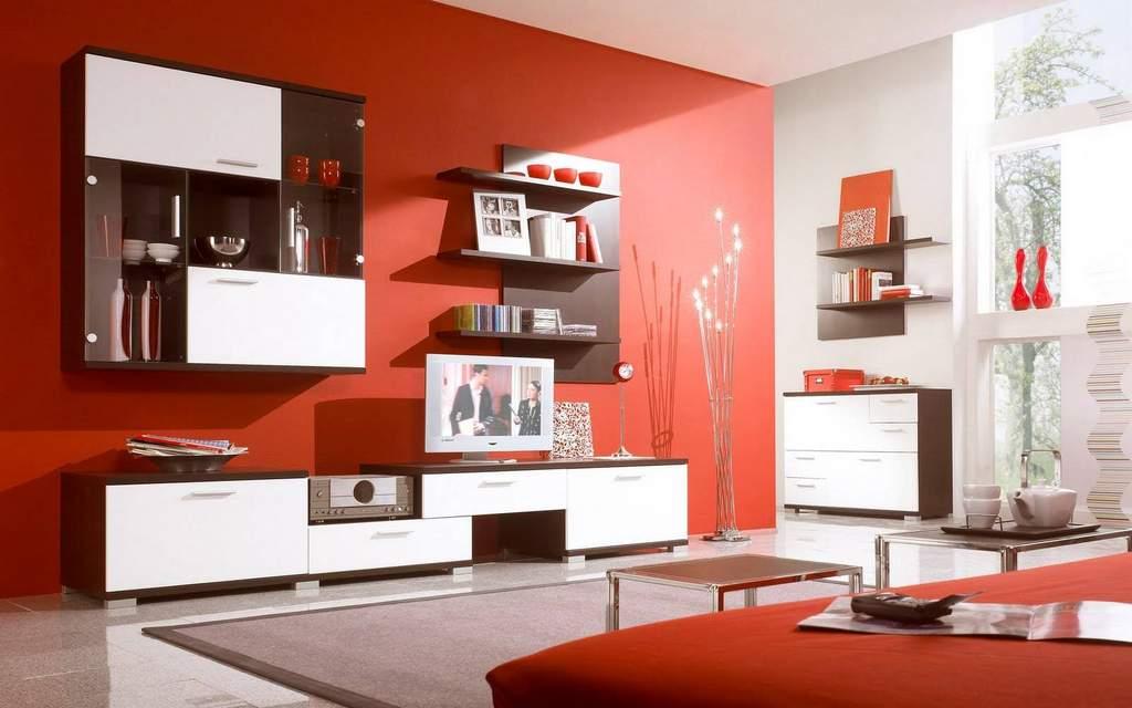 Красный в интерьере квартиры