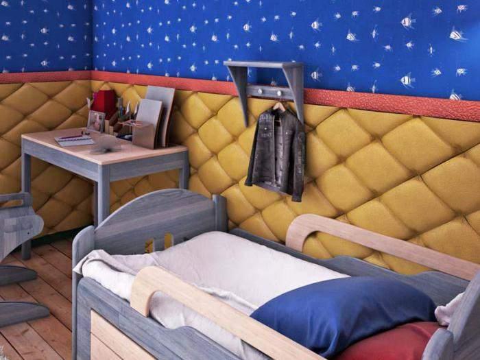 Мягкие стены в детской комнате