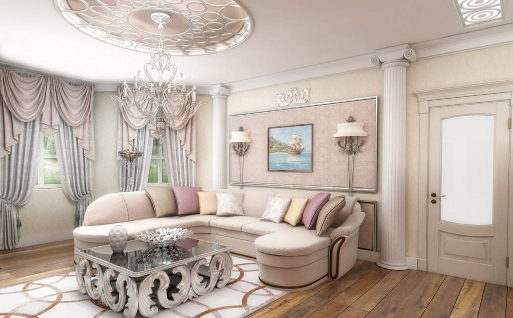 Однотонный дизайн квартиры