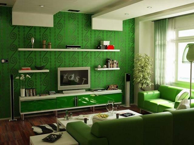 Оттенки зеленого в интерьере квартиры