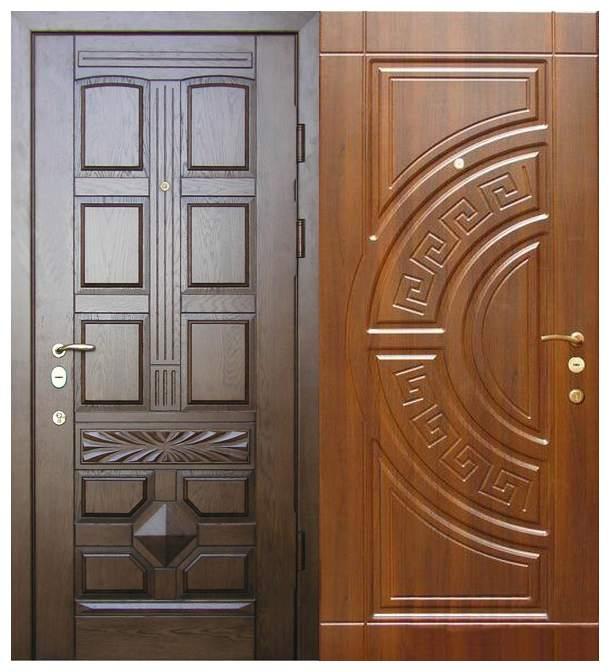 Двери с отделкой шпоном