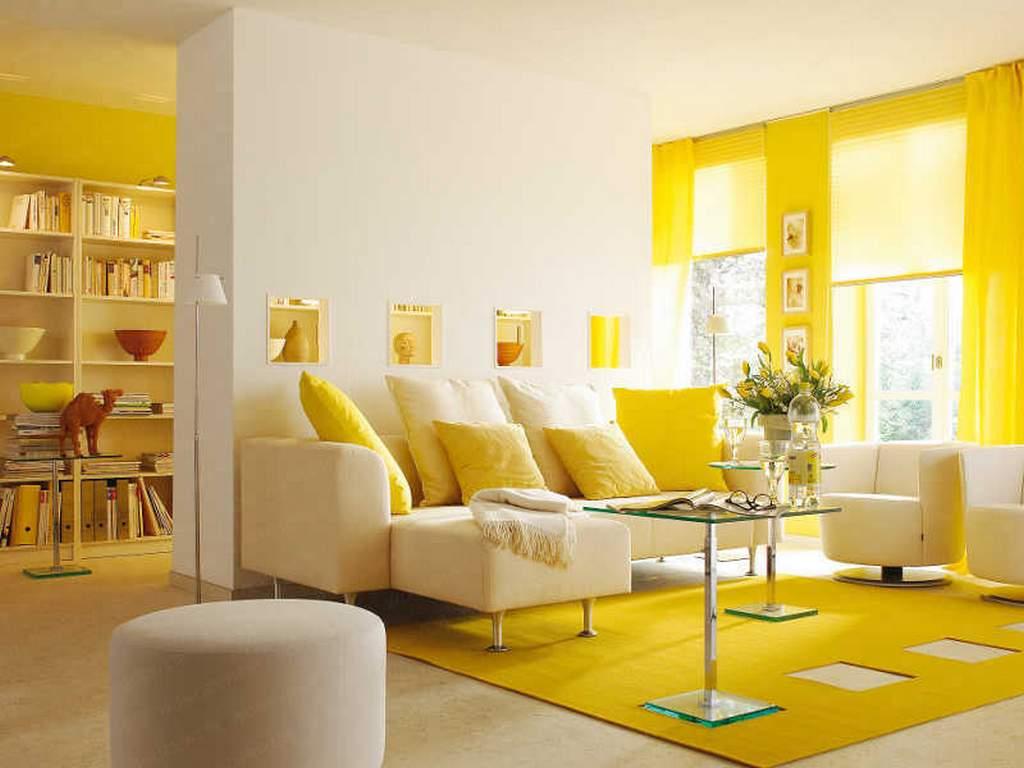 Жизнерадостный желтый интерьер