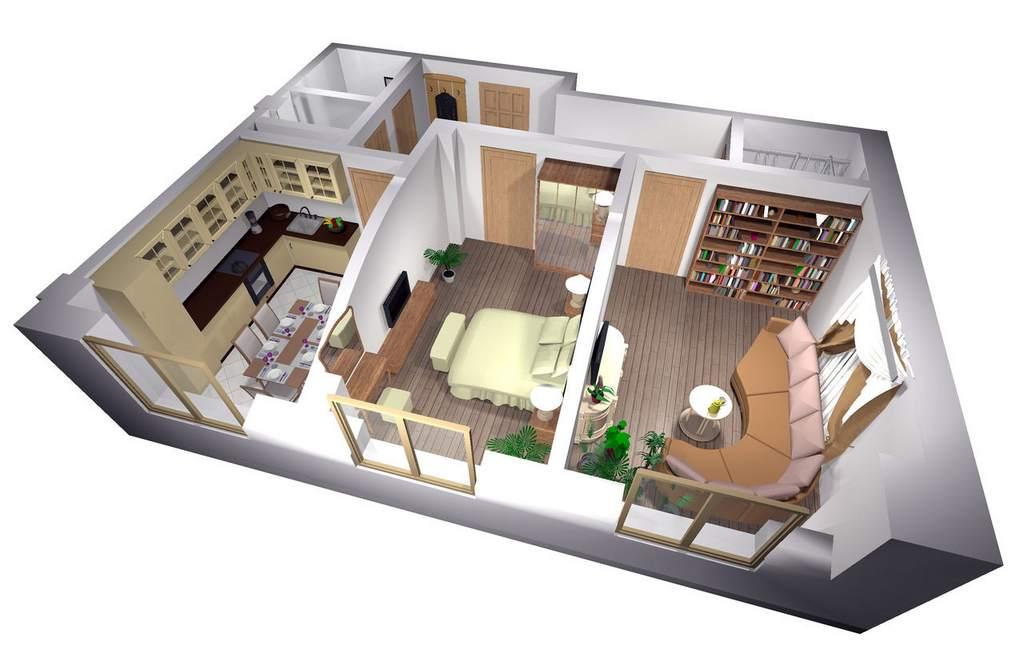 3D-модель дизайна квартиры