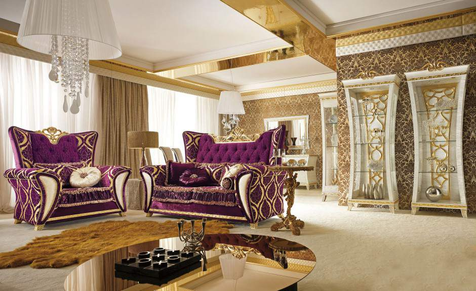 Современная гостиная в стиле барокко
