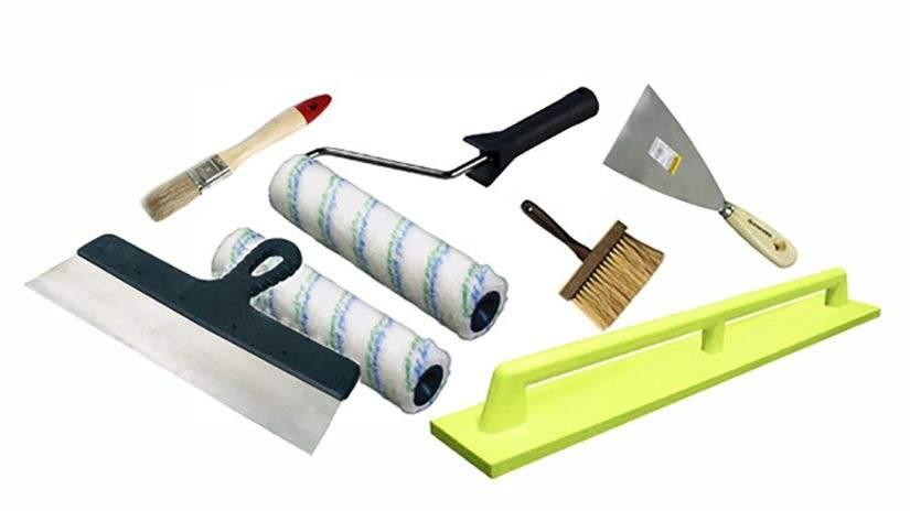 Инструменты для шпаклевки откоса