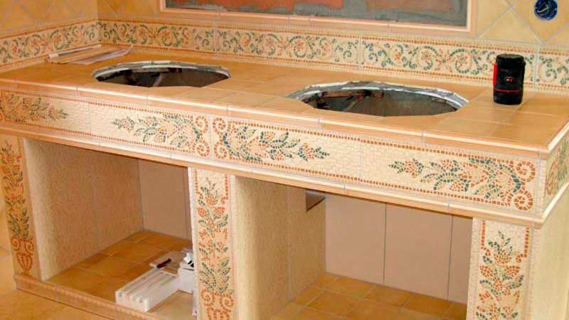 Изготовление столешницы в ванной из гипсокартона
