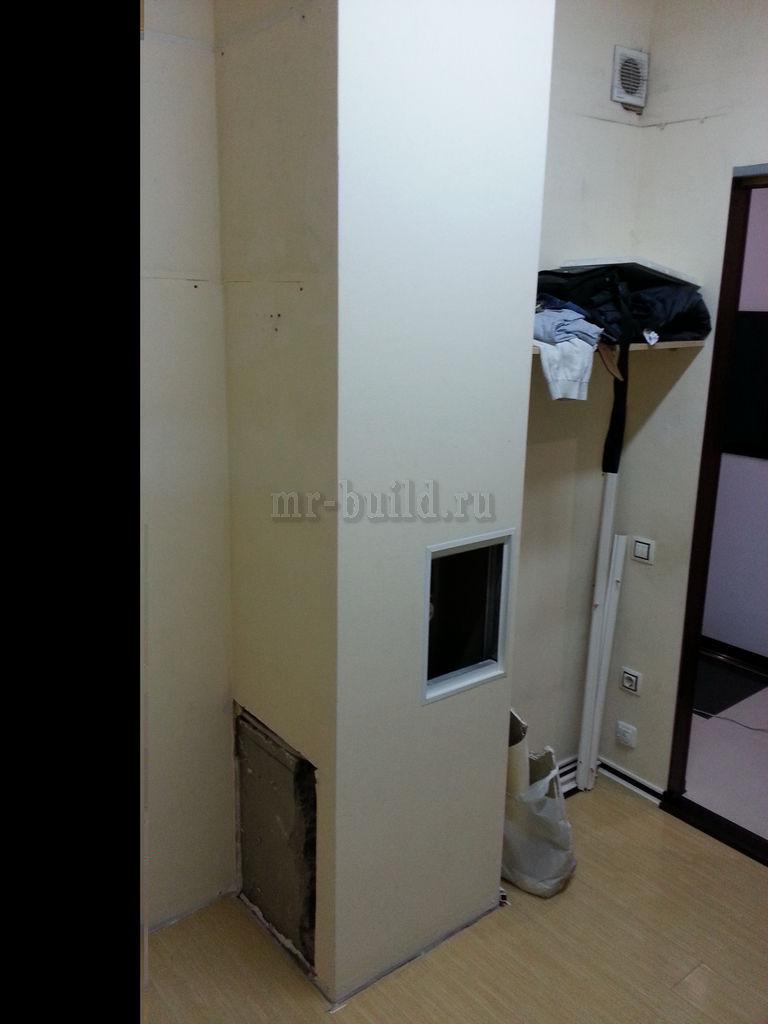 Канализационный стояк в коробе