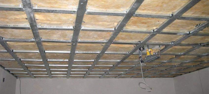 Каркас для МДФ-панелей на потолке