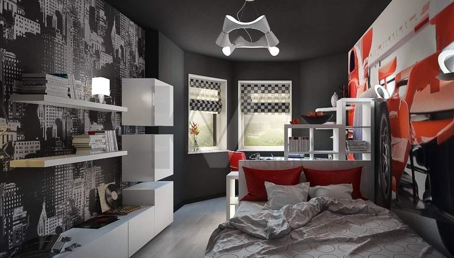 Спальня современного подростка