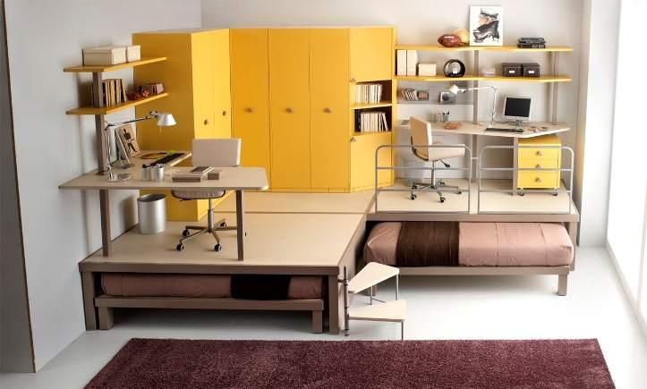 Компактная мебель в малометражной квартире