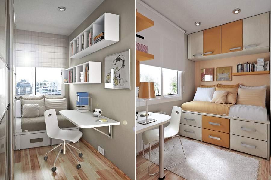 Оригинальные идеи для крохотных комнат
