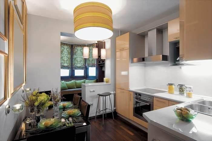 Кухня-гостиная в однокомнатной квартире