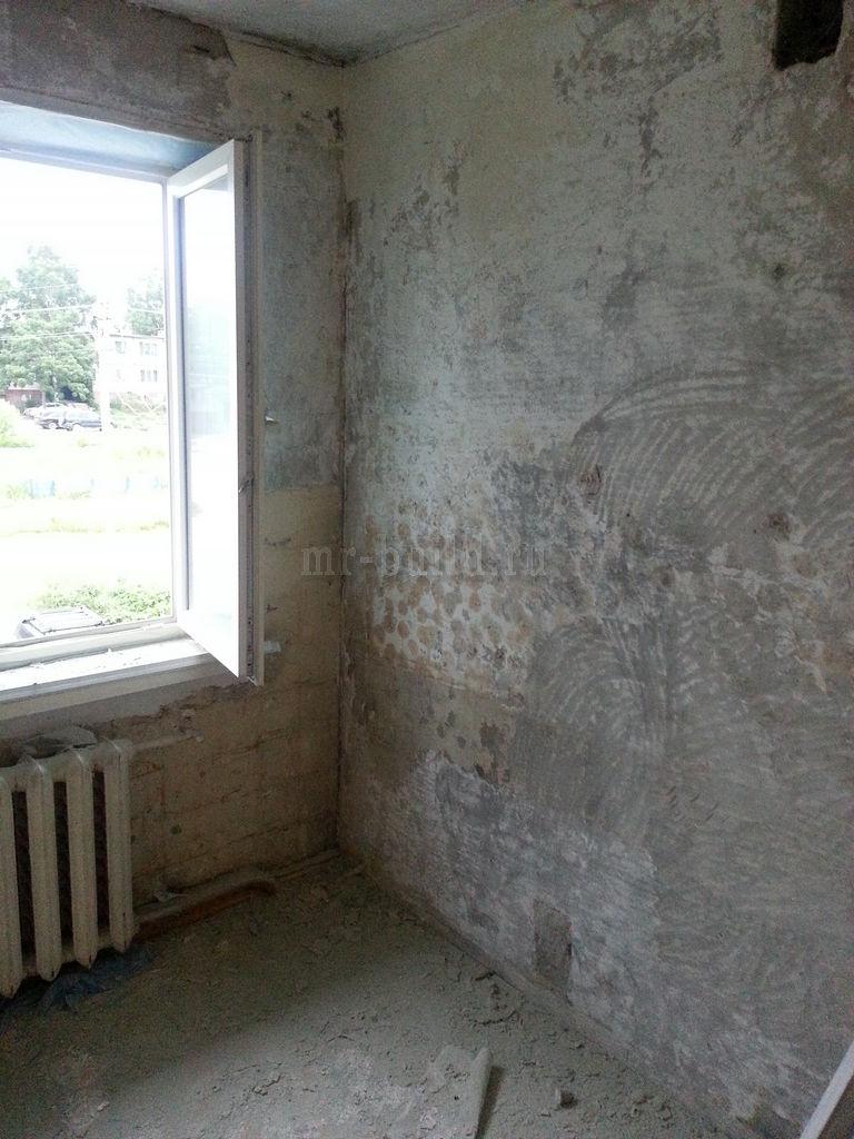 Кухня: зачистка стен
