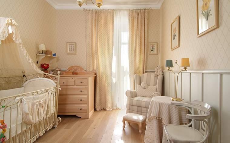 Мебель в спальне новорожденной
