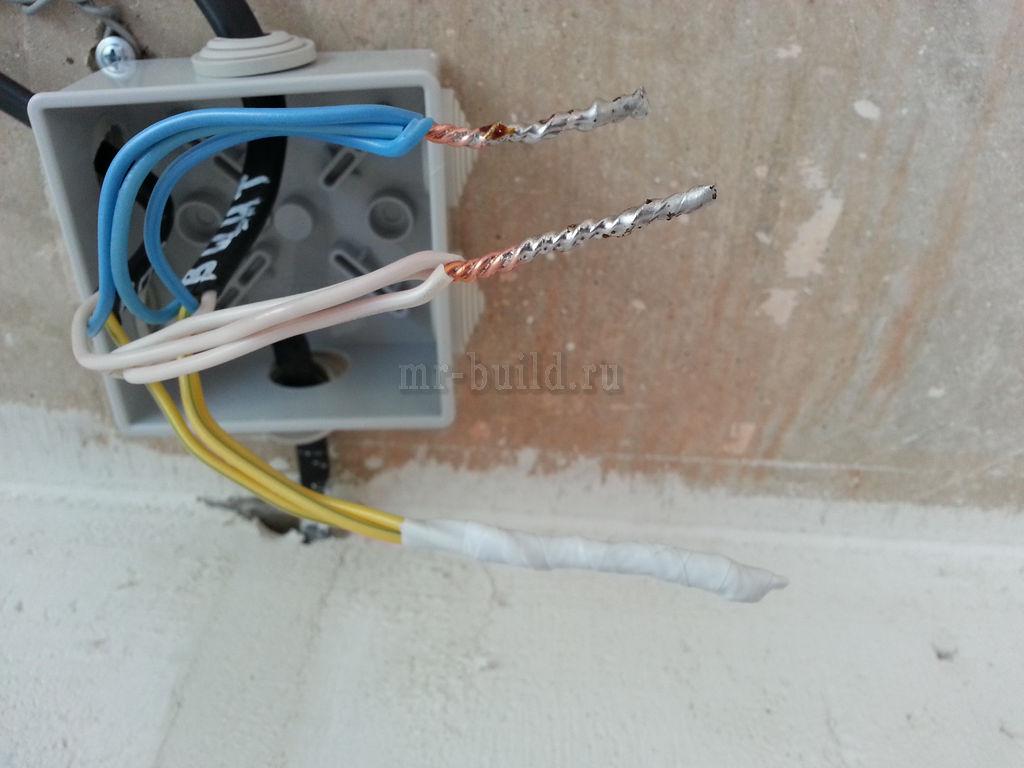 монтаж электропроводки: все соединения паяные