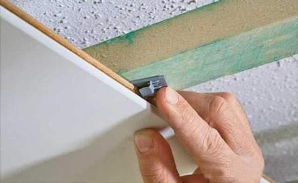 Монтаж МДФ-панелей на потолок