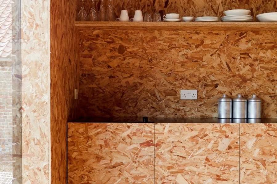 OSB-плита без отделки в интерьере