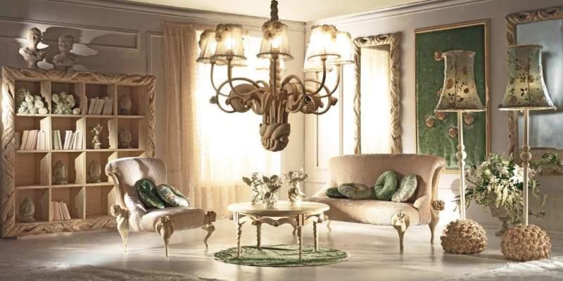 Освещение зала в стиле ар-деко