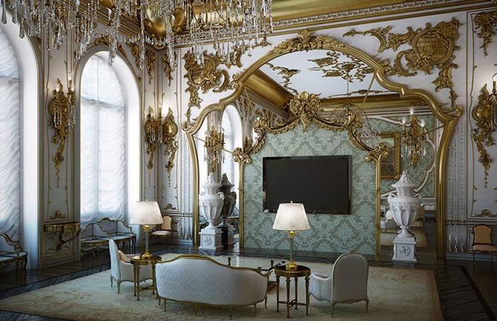 Отделка стен в барокко-стиле