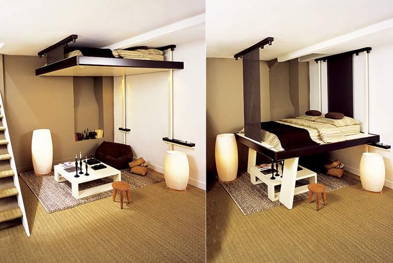Подъемная кровать позволит сэкономить пространство