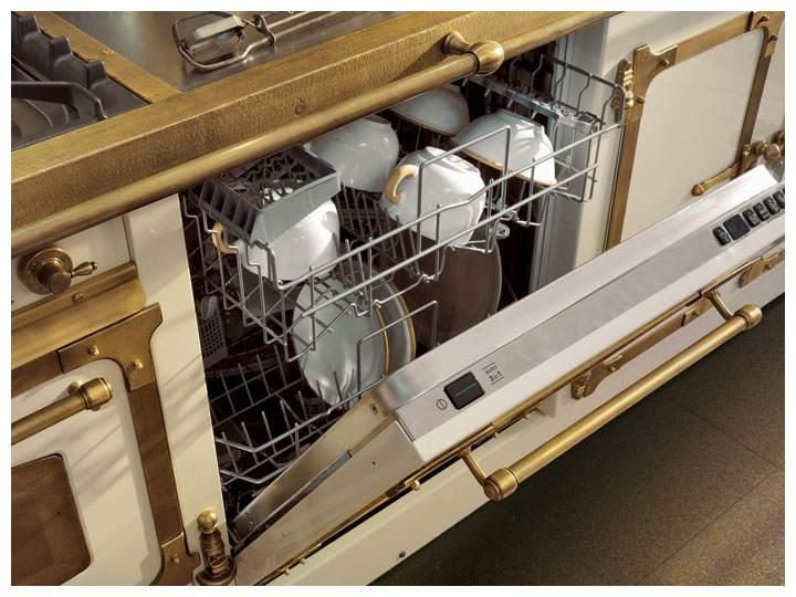 Посудомоечная машина на кухне помогает экономить воду