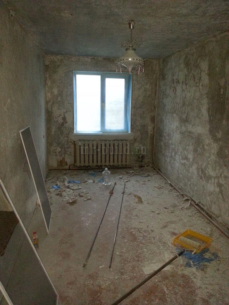 Спальня: зачистка оснований