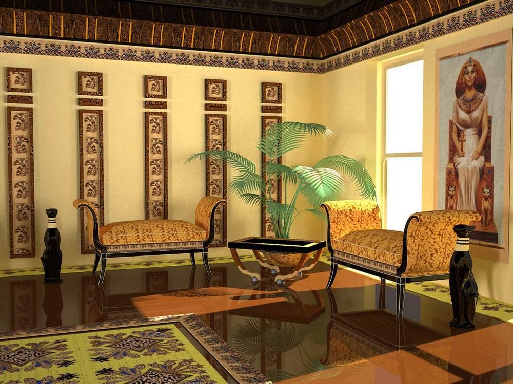 Стиль Древнего Египта в квартире