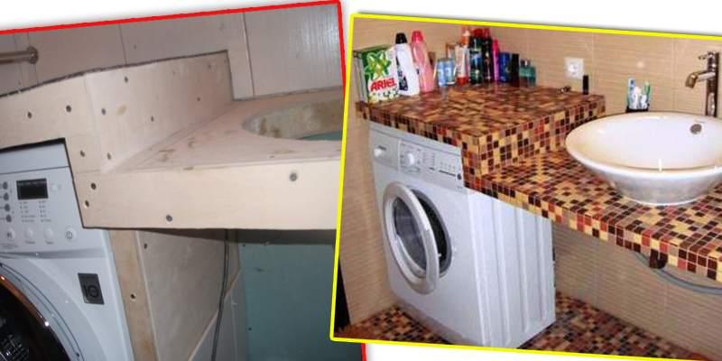 Столешница с раковиной и стиральной машиной своими руками