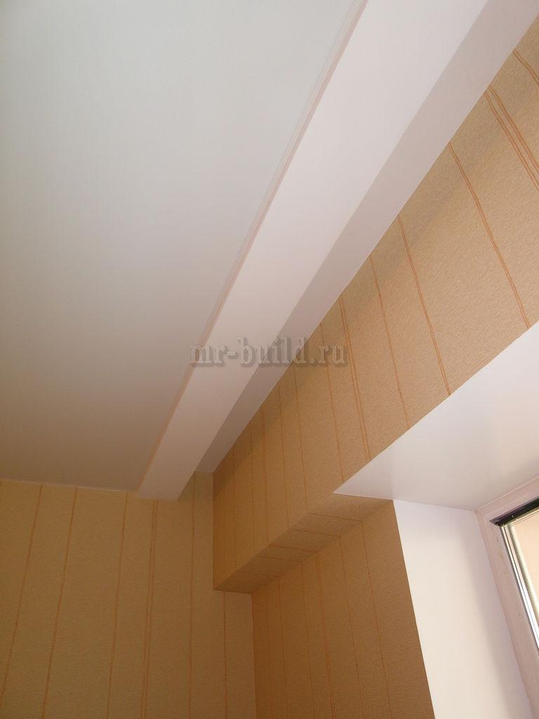 Углубление в потолке под гардину