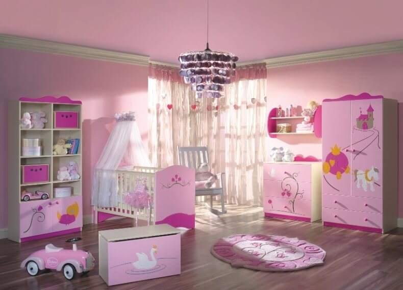 Выбор стиля для комнаты новорожденной девочки