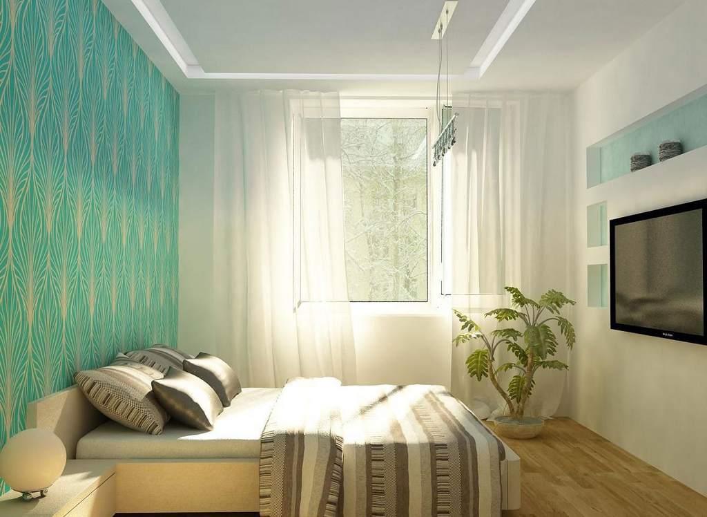 Светлые тона предпочтительны для малометражных спален