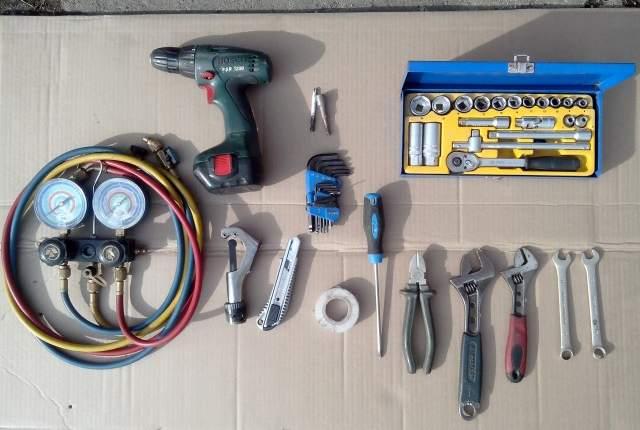 Инструмент, необходимый для монтажа прибора