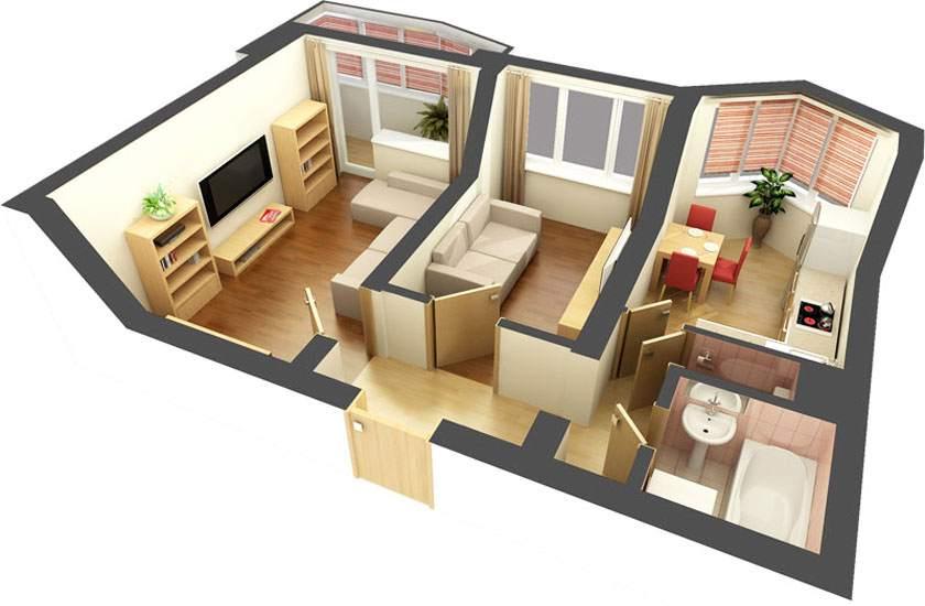 Способ изолирования проходной комнаты