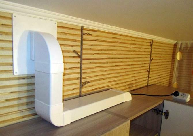 Конструкция воздухоотводящей трубы на кухне