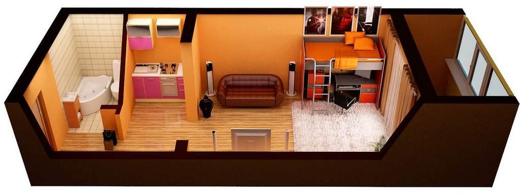 При свободной планировке важно правильно моделировать внутреннее пространство