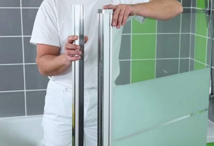 Ширма для ванной стекло