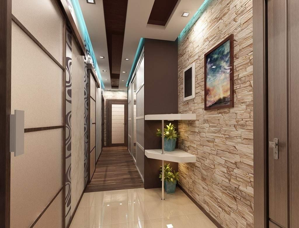 Продуманное освещение позволит забыть о недостатках длинного узкого коридора