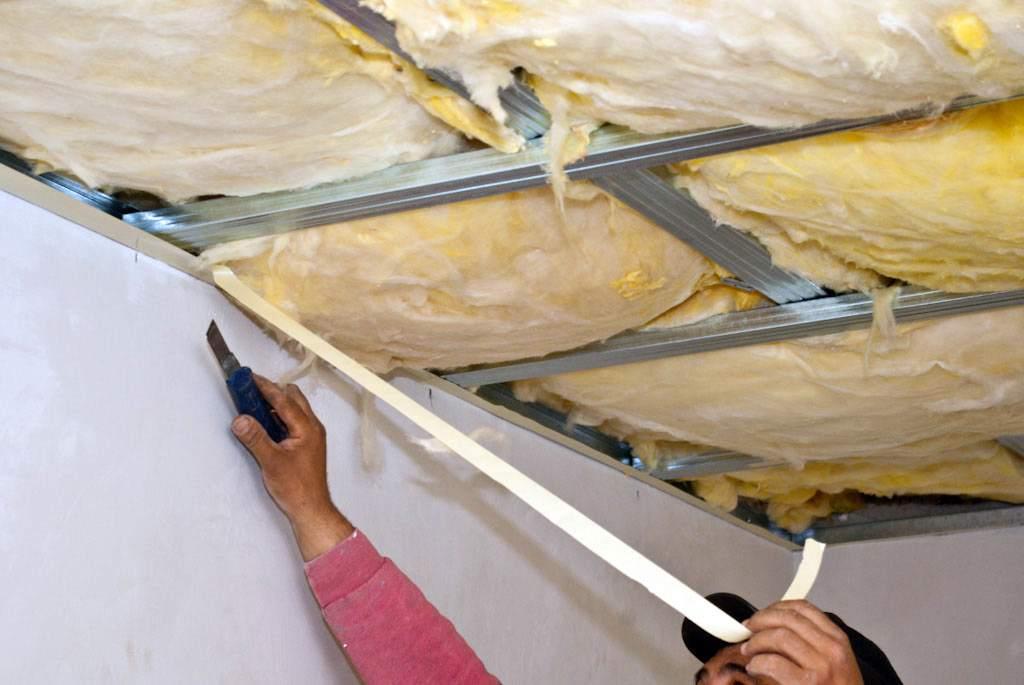 Создание звукоизолирующей подвесной конструкции на металлическом профиле