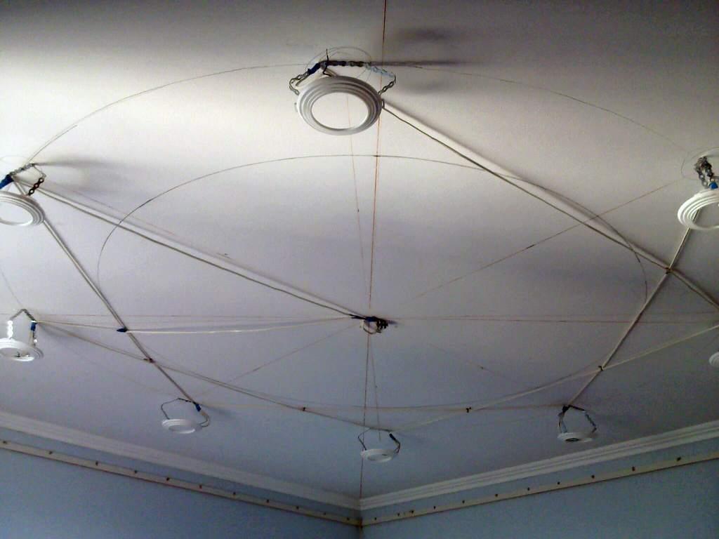 Разметка под будущий натяжной потолок