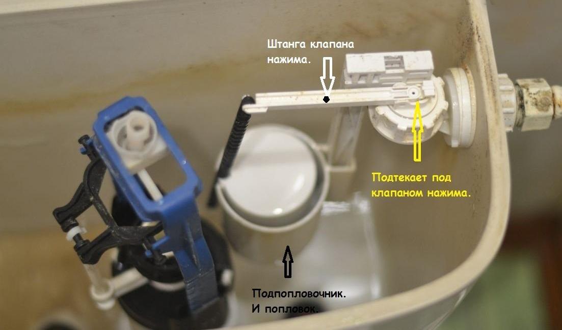 Ремонтируем механизм кнопочного сливного бачка