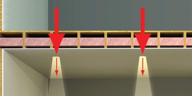 Звукоизоляция над натяжным потолком