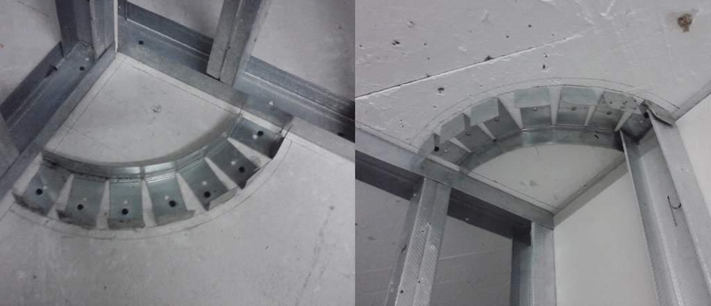 Согнутый профиль для будущей колонны