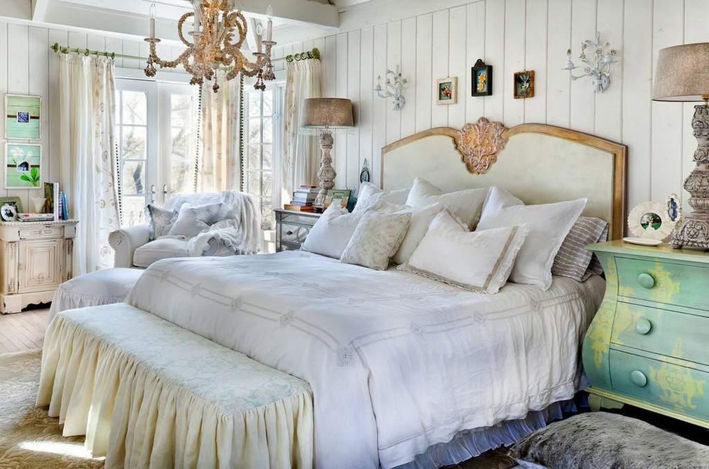 Шебби шик сделает спальню уютной