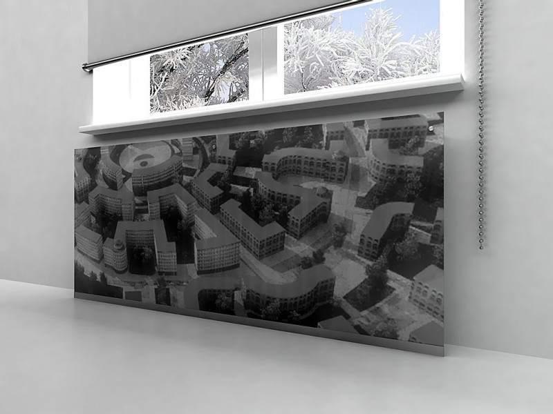 Прячем радиаторы за экранами из стекла