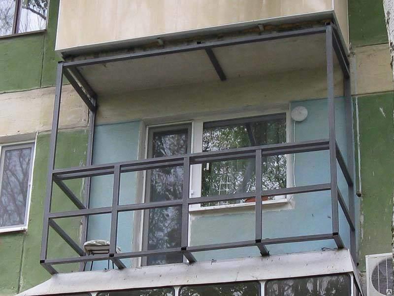 Строительство металлического каркаса балкона